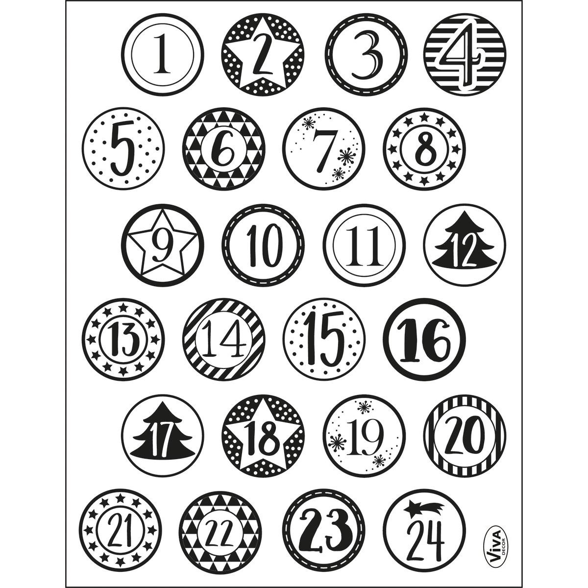 Kalendertext Stempel Clearstamp von ViVa Decor 4003.207.00 Monate /& Tage