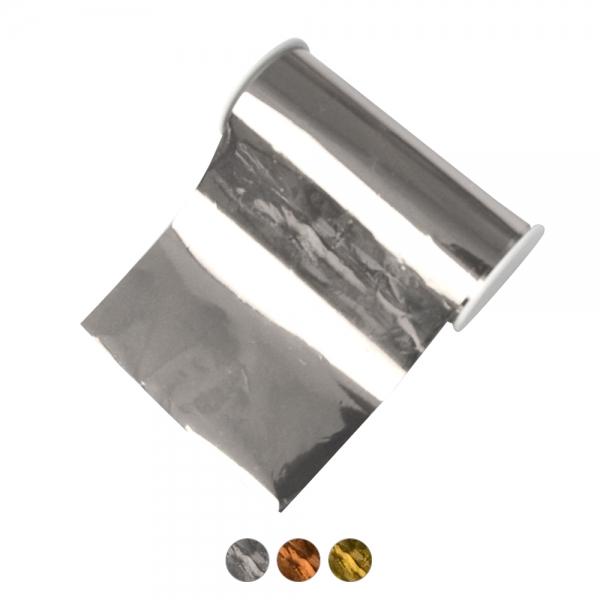 Metalleffekt-Glanzfolie in 3 Farben - Silber, Gold und Kupfer