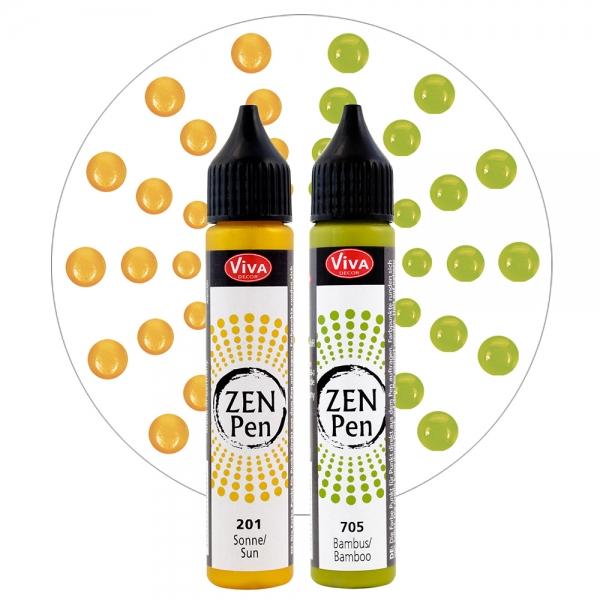 Zen-Pen Lebensfreude 2 Farben Gelb und Grün