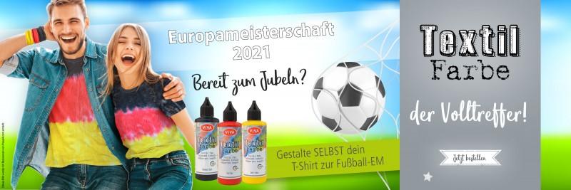 Textilfarbe Fabric Dye zu Fußball EM