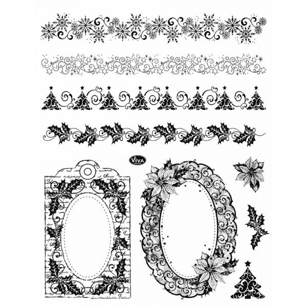 Clear Stamp Weihnachtsbordüren und Rahmen