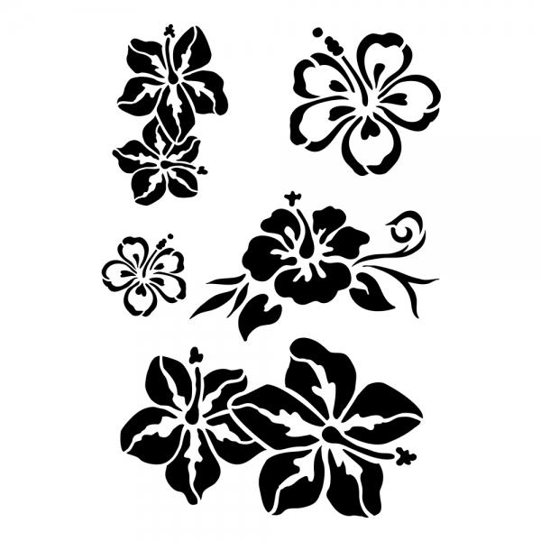 Universalschablonen - Karibische Blüten