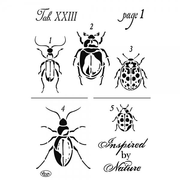 Universalschablonen Vintage Käfer