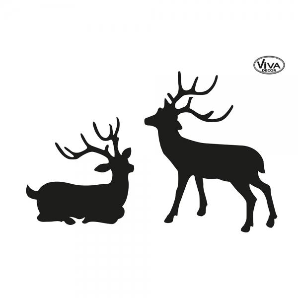 Universalschablone Hirsche