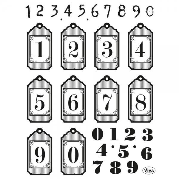 Clearstamps Stempelsammlung mit Zahlen