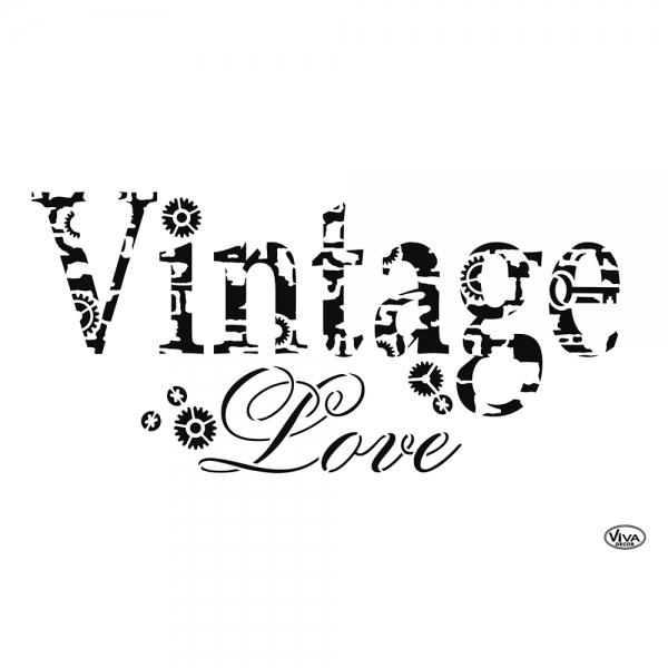 Universalschablone A4 Vintage Love