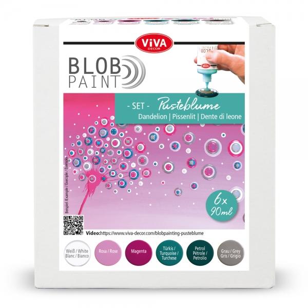 Blob Paint-Set Pusteblume 6-teilig