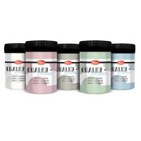 Chalky deckend 5er Set mit Pastellfarben - Muschelweiss, Rosa, Taubenblau, Hellgrau und Salbeigrün