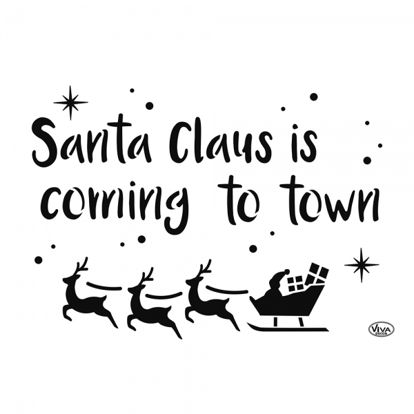 Universalschablone Santa Claus ist coming to town