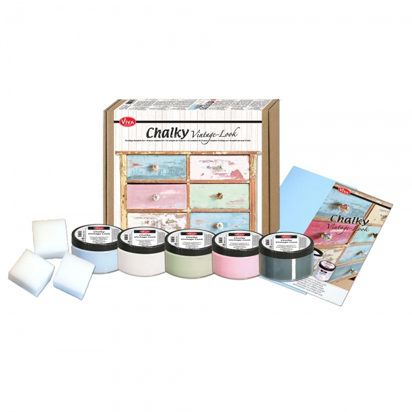 Chalky Vintage Look Starter-Set Lieferumfang