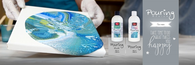 Pouring Medium and Fluid – the art of poured paintings, each an unique individual