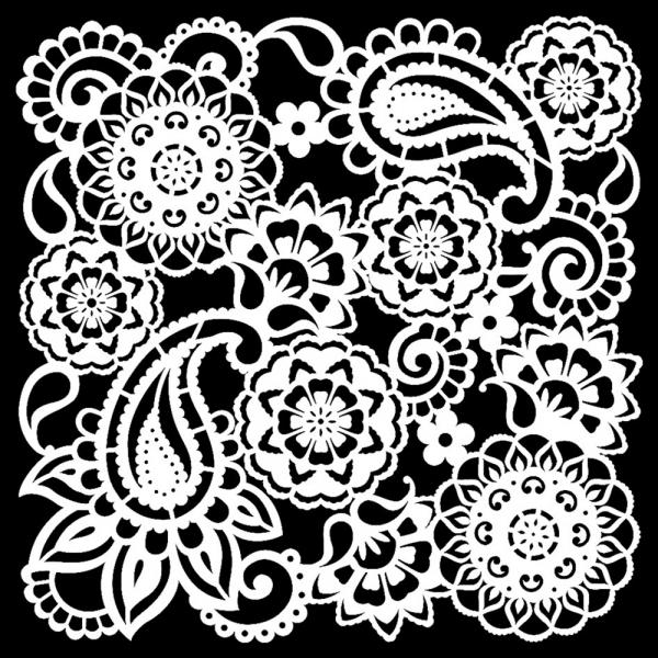 Hintergrund Universalschablone mit Paisley Muster