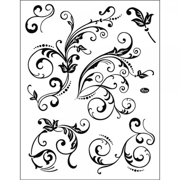 Clear Stamp Florale Schnörkel
