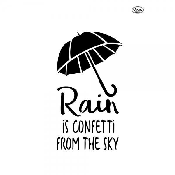 Blob Paint Schablone DIN A3 Regenschirm