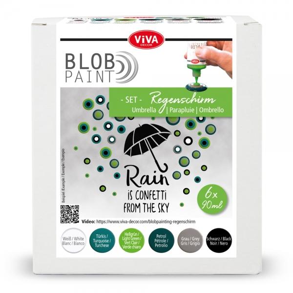 Blob Paint-Set Regenschirm