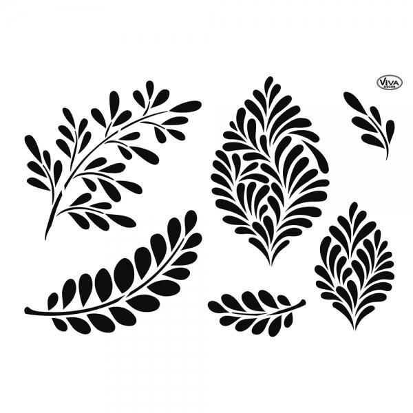 Universalschablone Moderne Blätter