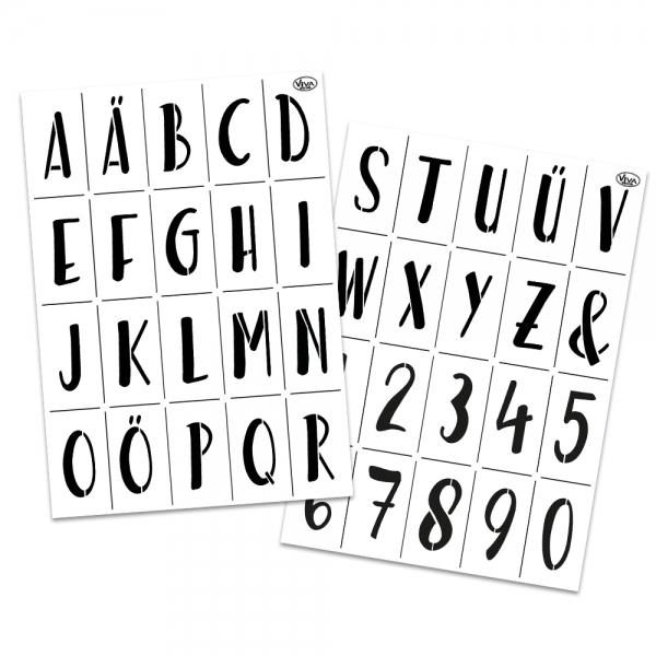 Universalschablonen-Set A3 Alphabet und Zahlen