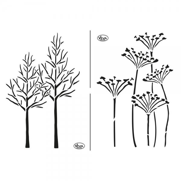 Universalschablone Herbstimpressionen