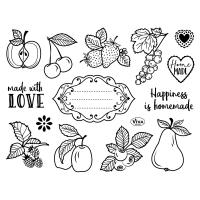 ClearStamps - Stempelsammlung mit Früchten und Obst