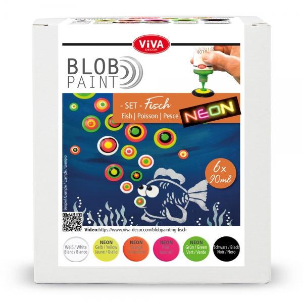 Blob Paint-Set Fisch