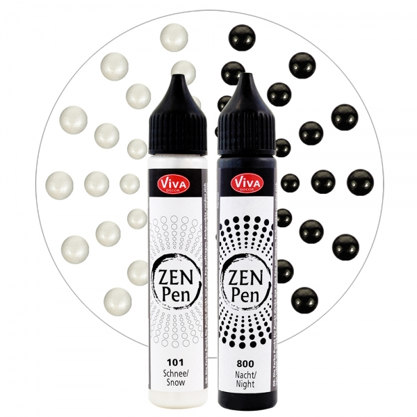 Zen-Pen Set 2 Farben Schwarz und Weiß