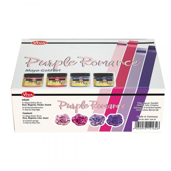 Maya-Gold-Set Purple Romance Verpackung