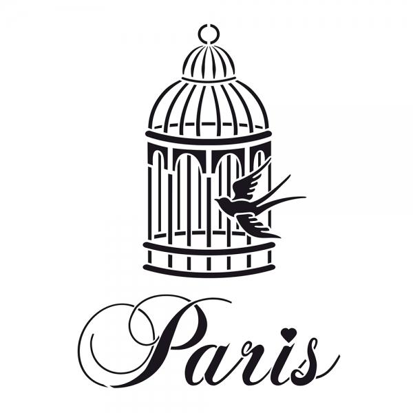 Universalschablone A5 Vogelkäfig in Paris