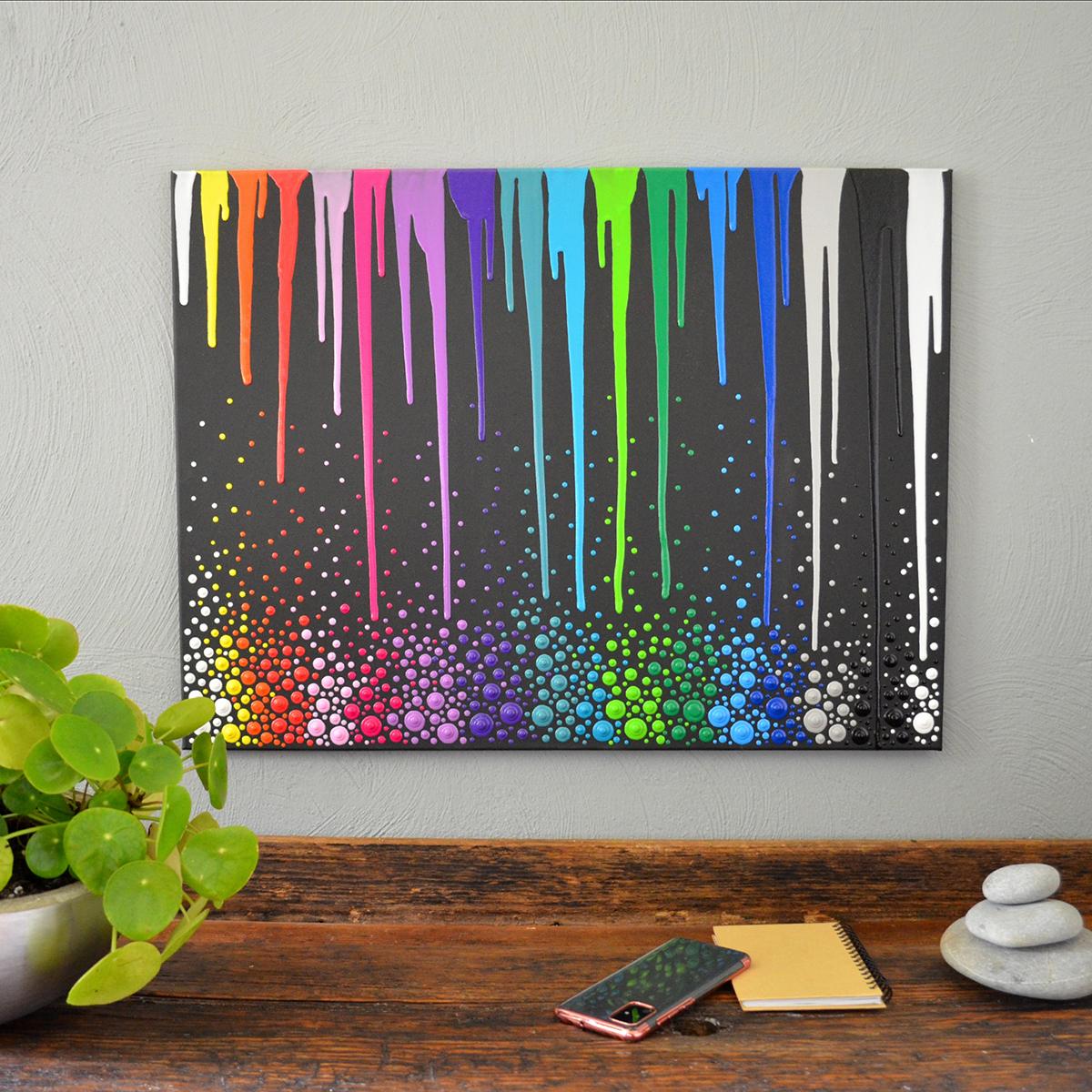 Blob Paint Bild - Alle Farben mit Blobs und Verlauf