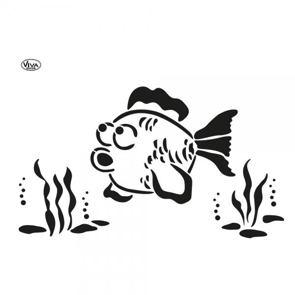 Blob Paint Schablone DIN A3 Fisch Aquarium