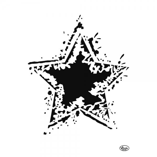Universalschablone Rocking Star