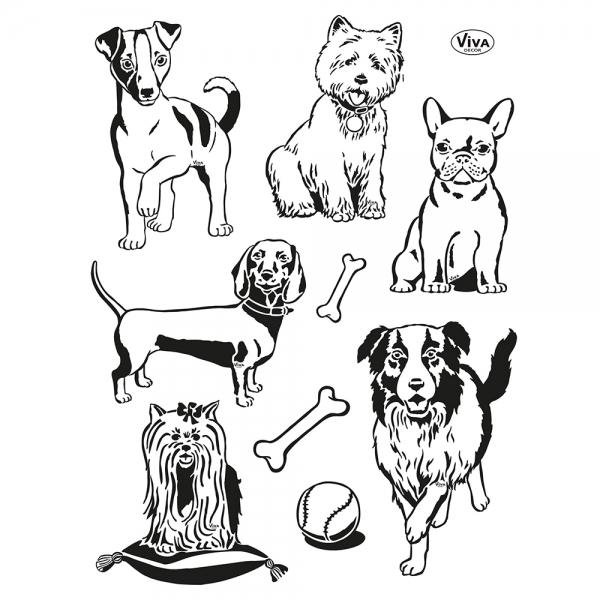 Cleaerstamps Stempelsammlung mit Hundemotiven