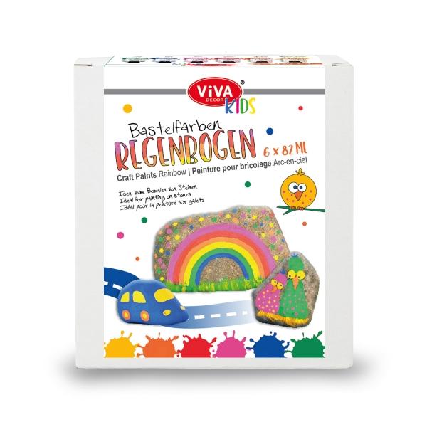 Bastelfarben-Set Regenbogen Acrylfarben