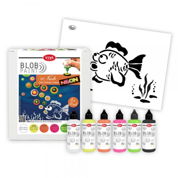 Blob Paint Set Fisch mit Schablone