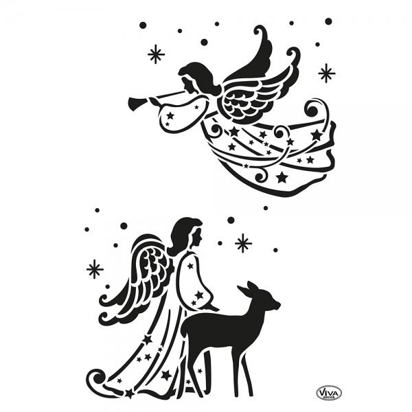 Universalschablone Zwei Engel