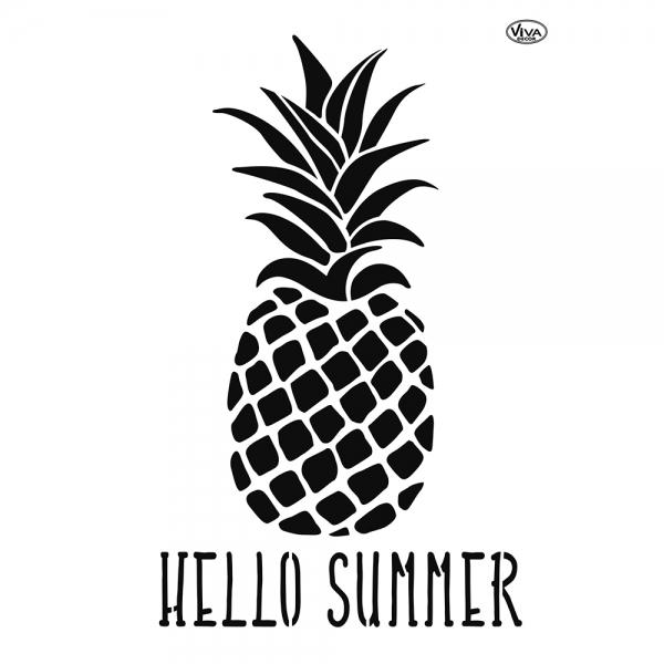 Universalschablone Ananas Hello Summer