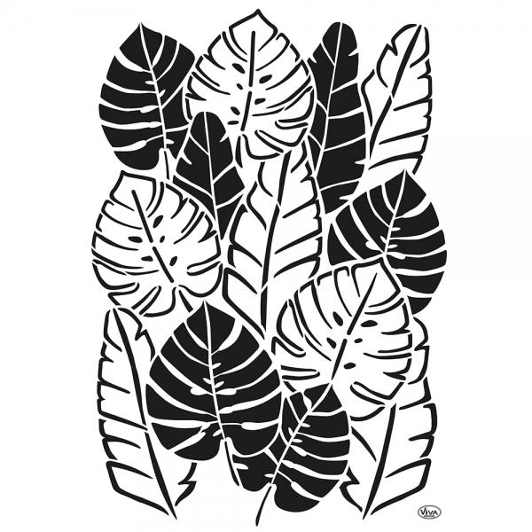 Aniversalschablone A3 mit Blätter-Sammlung