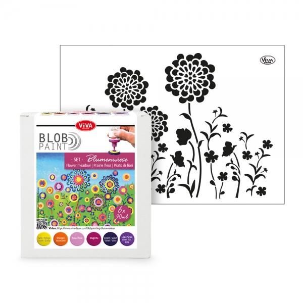 Blob Paint Set – 6 Farben und Schablone