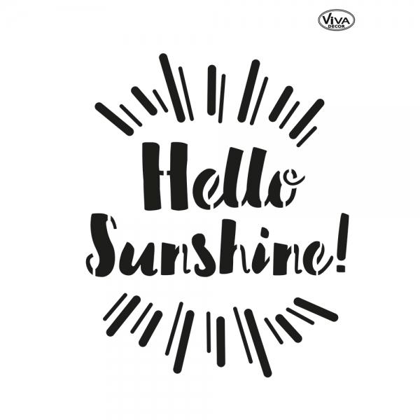 Universalschablone Hello Sunshine