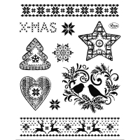 Clearstamps Traditionelle Weihnachtsmotive als Stempel-Set