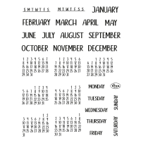 Clearstamps Bujo Kalender Stempel-Set