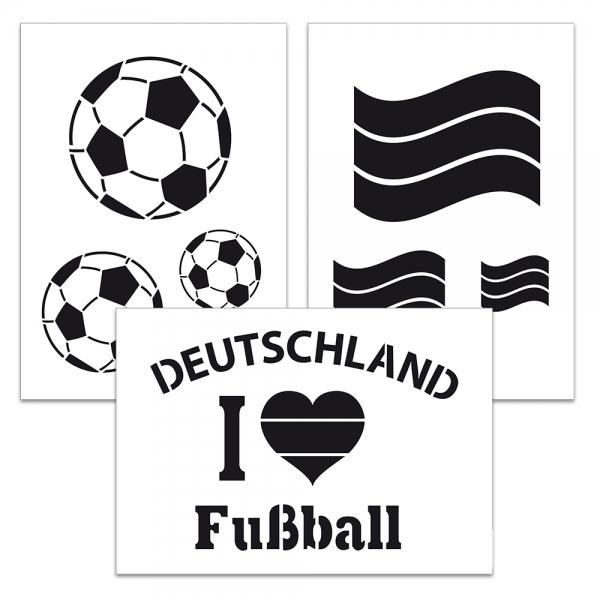 Universalschablonen-Set 3-teilig Fußball