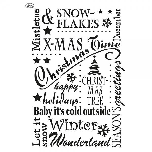 Universalschablone Christmas Time - Alles für die Weihnachtszeit