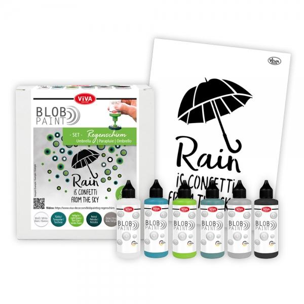 Blob Paint Set Regenschirm mit Schablone