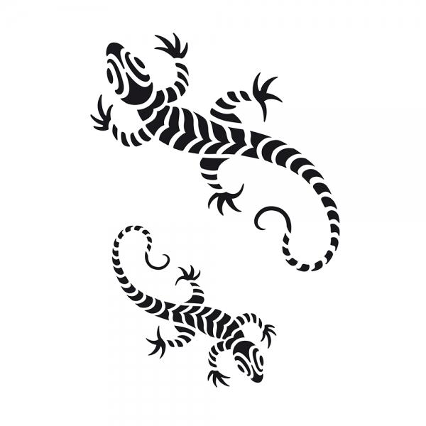 Universalschablone Gecko