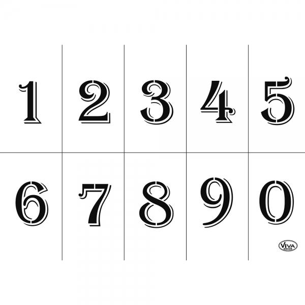 Universalschablone Zahlen von 0 - 9