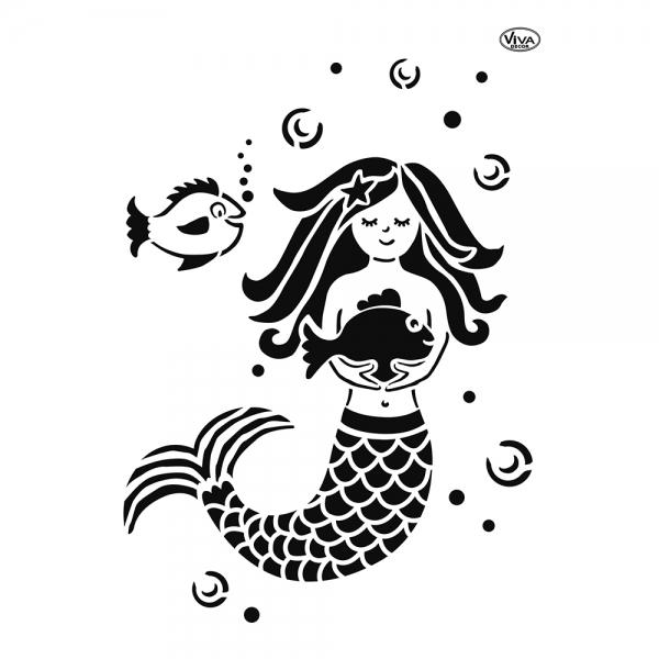 Universalschablone Meerjungfrau