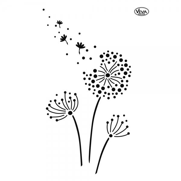Schablone Pusteblumen  auf A4