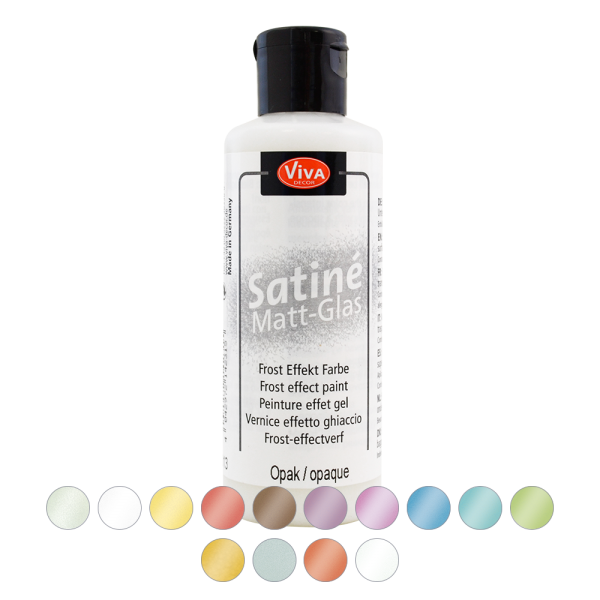 Satine Matt Glas in 14 Farben