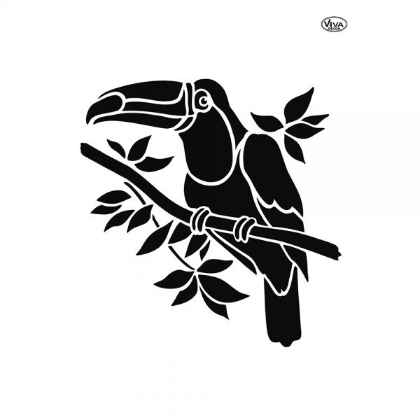 Universalschablone Vogel Tukan