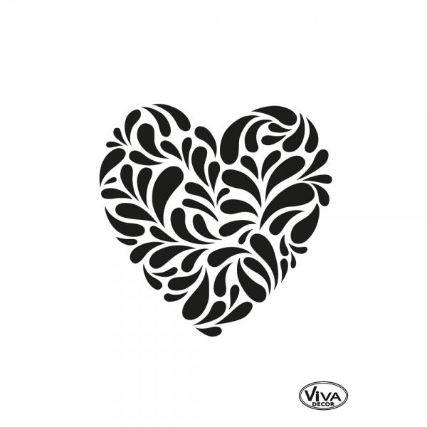 Universalschablone Paisley Herz